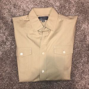 Vince Men's Military Style Button Down